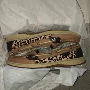 Sperry Top Sider Anglefish Linen Pony Size 9.5